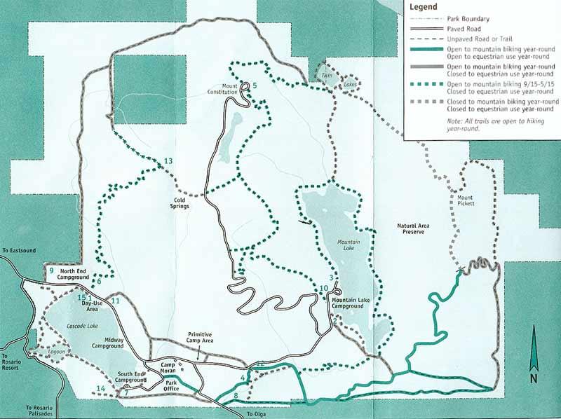 Orcas Island Hiking Map